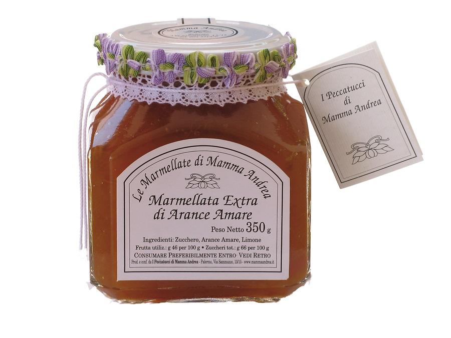 Marmellata extra di Arance Amare 350 g Glas I Peccatucci di Mamma Andrea