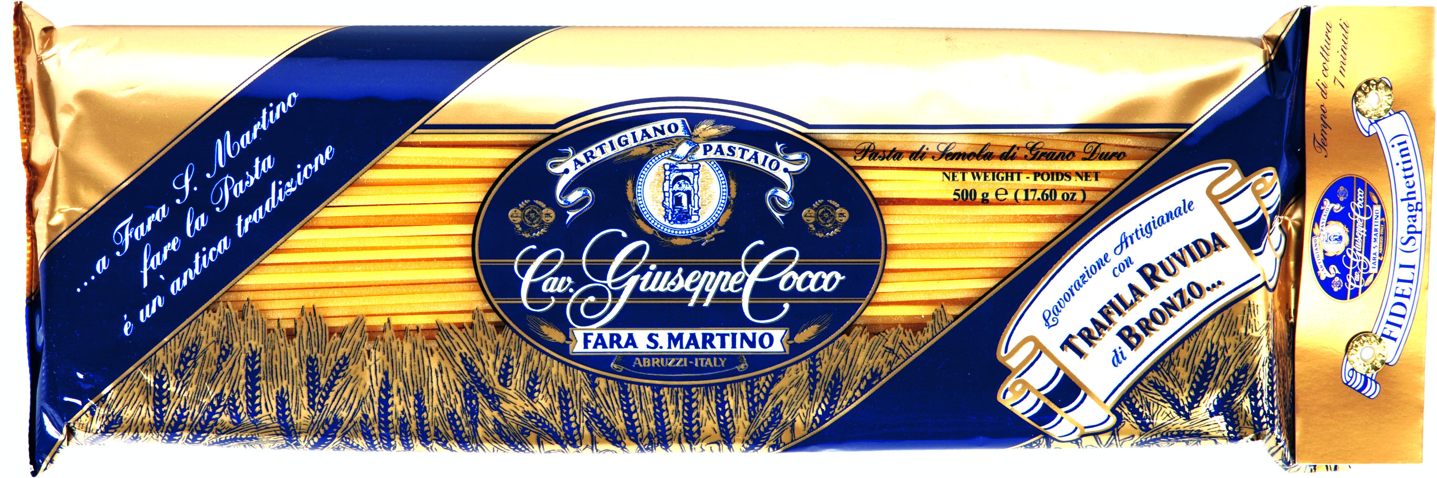 Fideli Nr 32 (Spaghettini) 500 g Packung Cocco