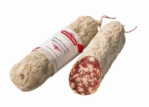 Salame Finocchiona ca. 400 gr. Falorni Toskan. Salami m. Fenchel  ( Kühlartikel)
