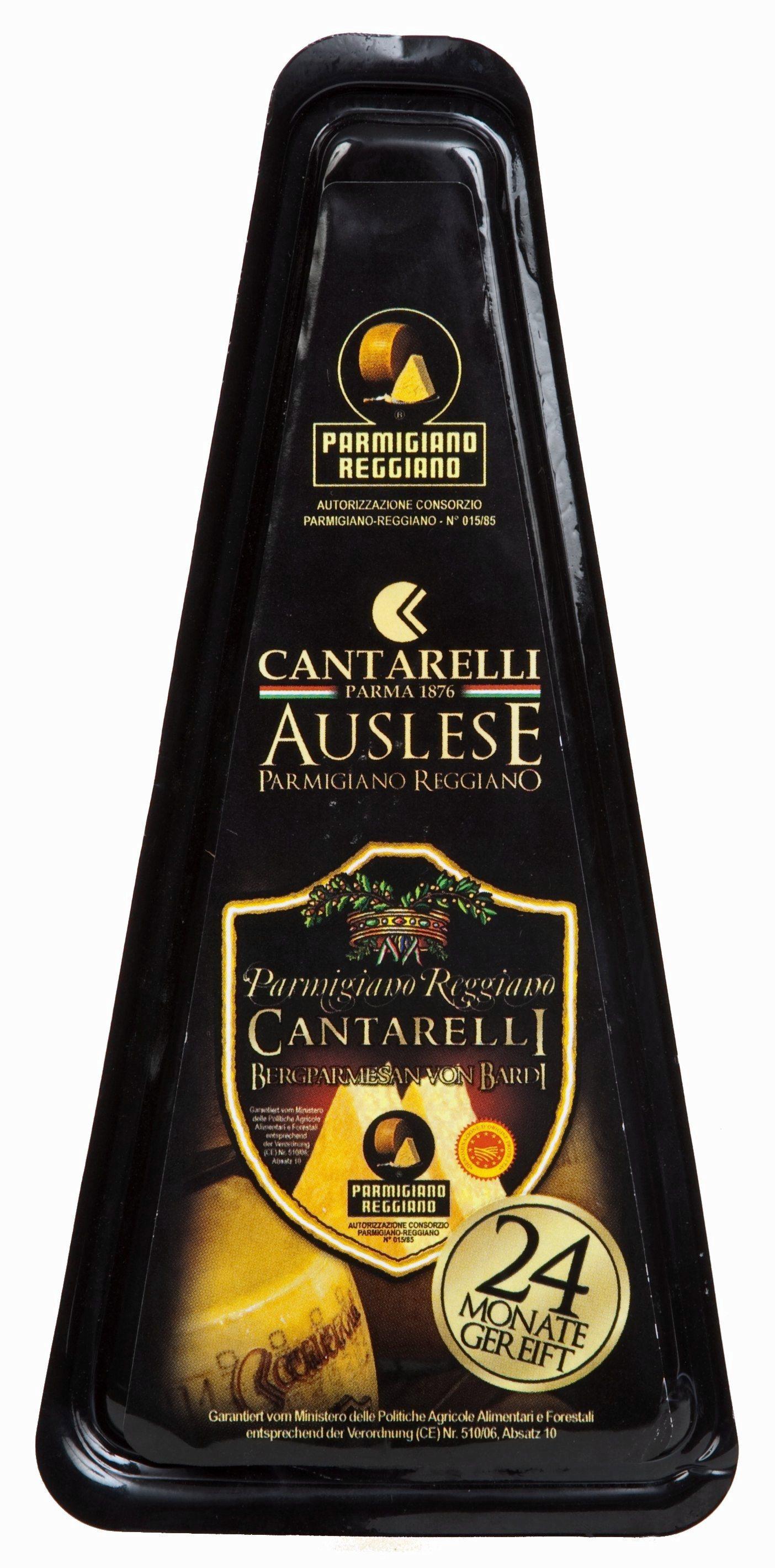 Parmigiano Reggiano Bardi 24 mesi 200 g Cantarelli Berg Parmesankäse 24 Monate gereift  ( Kühlartikel)