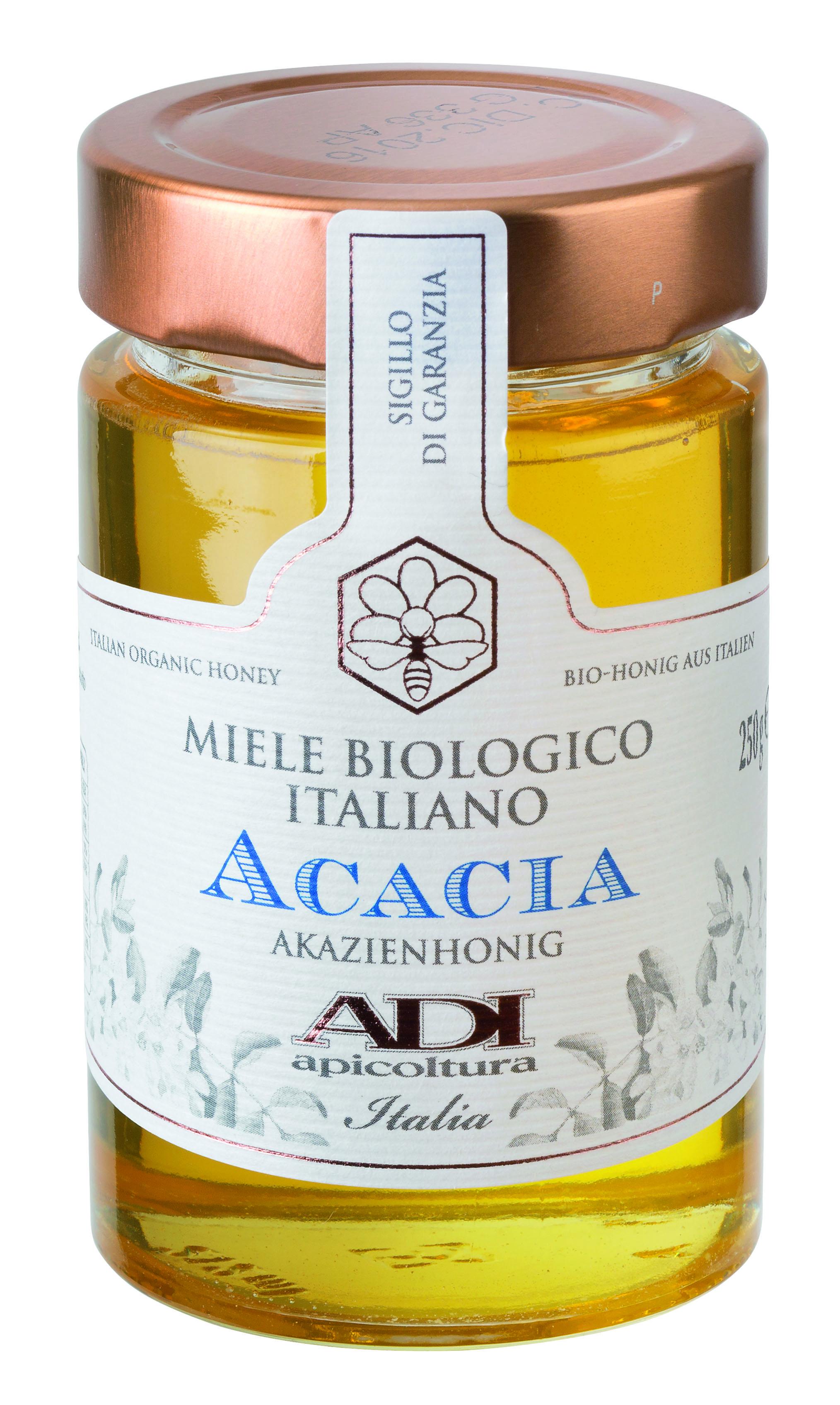 Miele di acacia bio 250 g Glas Adi