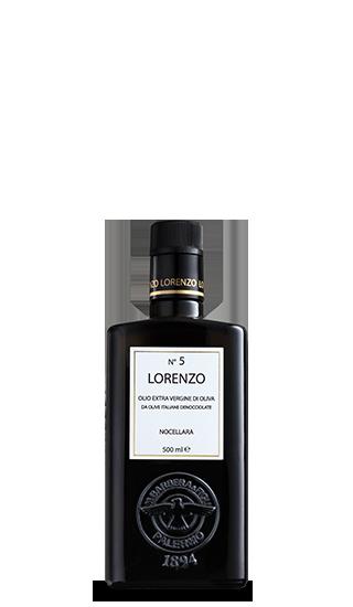 """Lorenzo no. 5"" olio e.v. d´oliva nocellara 500 ML Barbera"