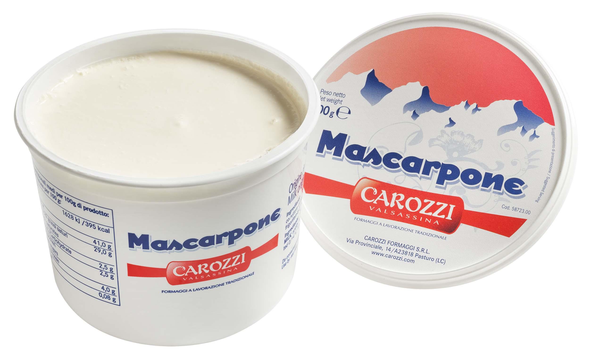 Mascarpone 500 gr. Becher Carozzi  ( Kühlartikel)