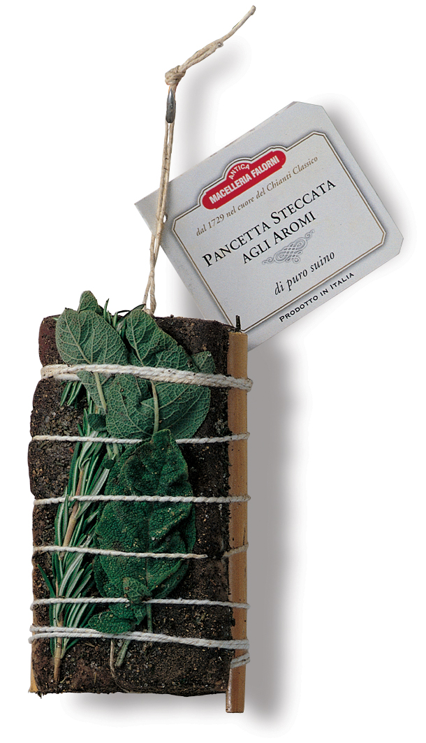 Pancetta agli aromi ca. 500 g Falorni Toskan. Schweinebauch  ( Kühlartikel)