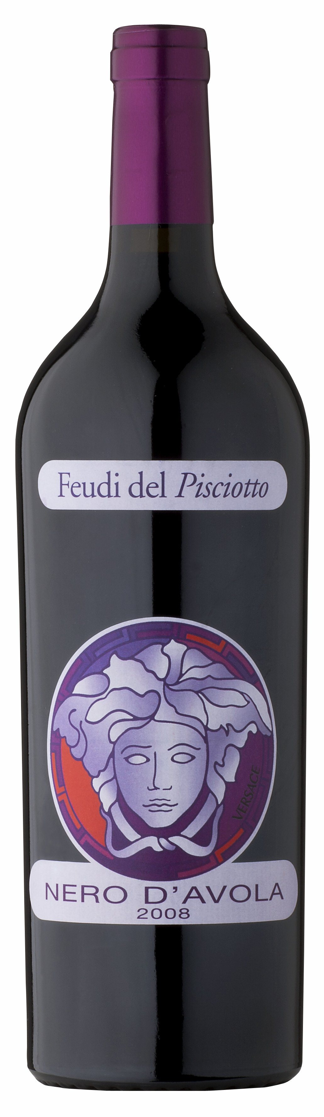 """""""Versace"""" Nero d'Avola Terre Siciliane, 2018 750 ML Feudi del Pisciotto"""