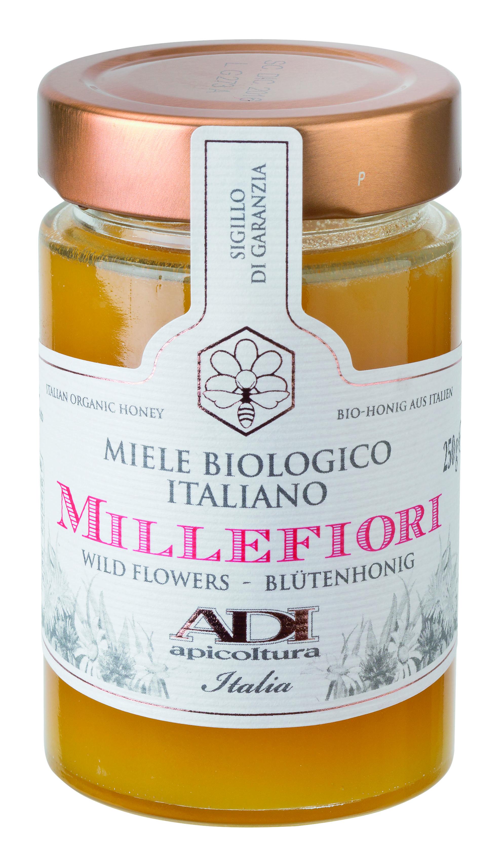 Miele di millefiori bio 250 g Glas Adi