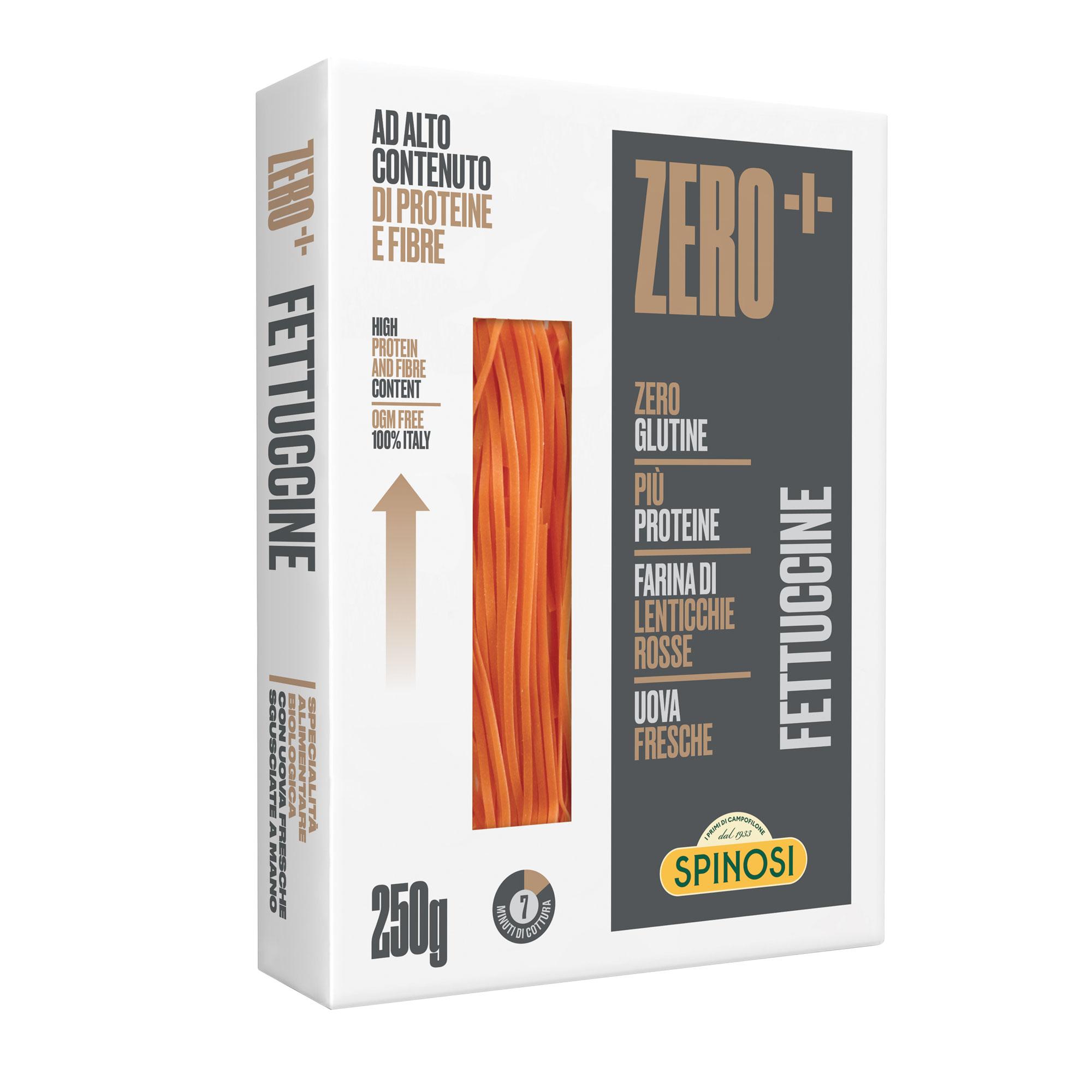 Fettuccine zero bio 250 g Packung Spinosi